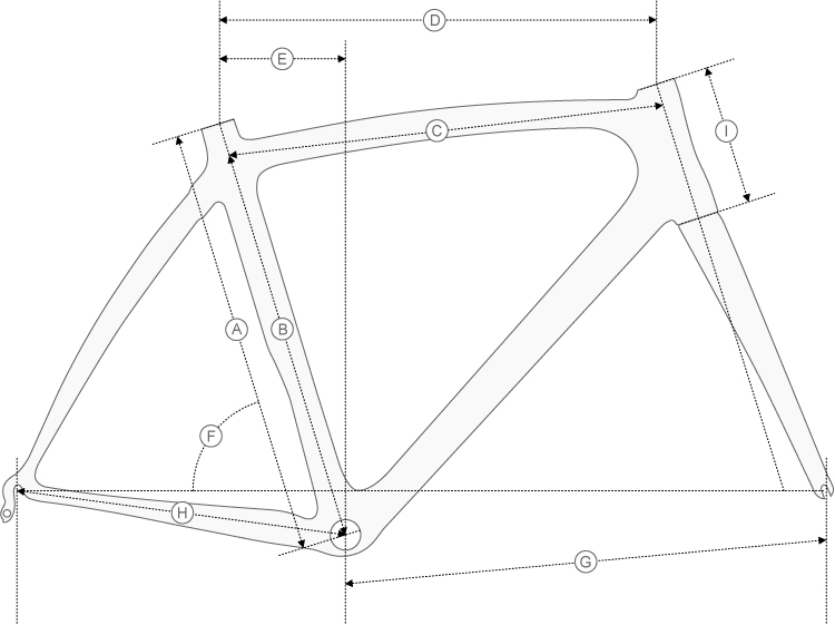 Colnago CLX Geometry Diagram
