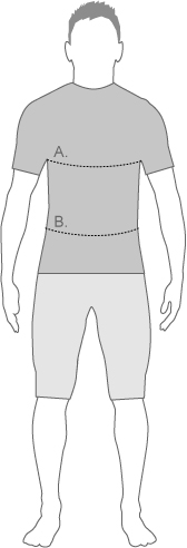 Under Armor Mens Tops Measure Diagram