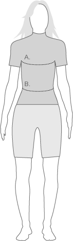 Under Armour Womens Tops measurement diagram