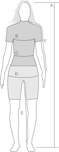 Helly Hanson Womens Measurement Diagram