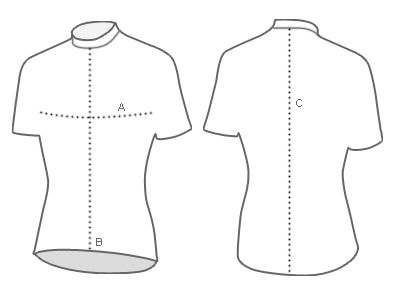 Solo jersey measurement diagram