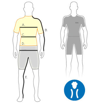 Gore Mens Tight Fit Size Diagram