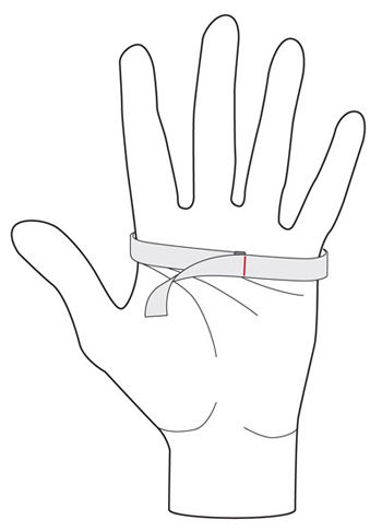 dhb Glove Measurement Diagram