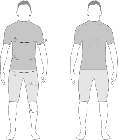 Sugoi Mens Compression Diagram
