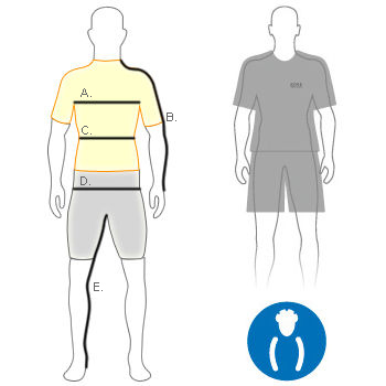 Gore Men's comfort fit diagram
