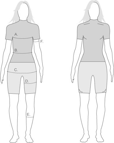Sugoi Womens Compression Diagram