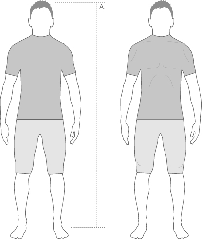 Assos Mens Shorts Measurement Diagram