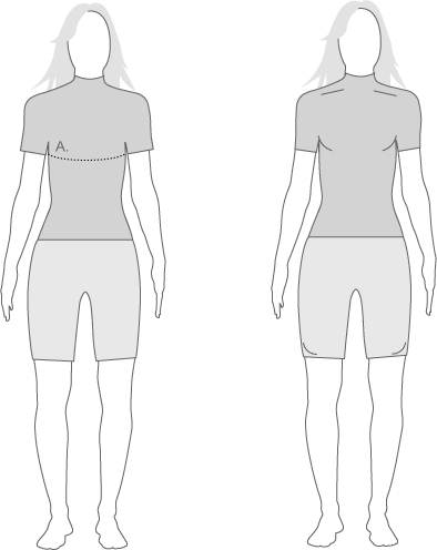 Assos Womens Tops measure diagram