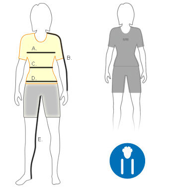 Gore womens slim fit size diagram