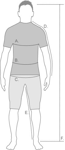 Craft Mens Measurement Diagram