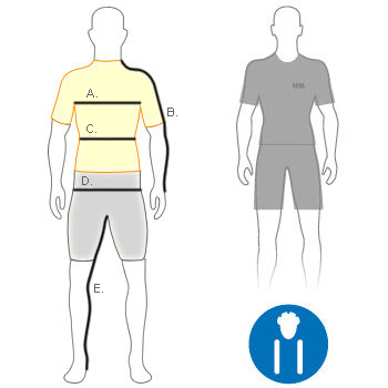 Gore men's slim fit diagram