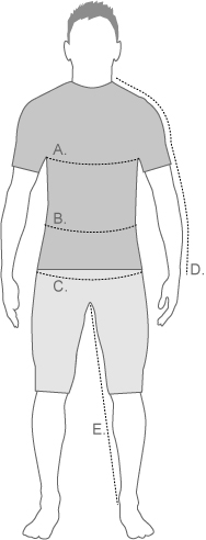 The North Face Mens Measurement Diagram