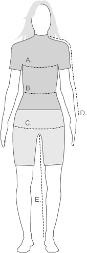 The North Face Womens Measurement Diagram