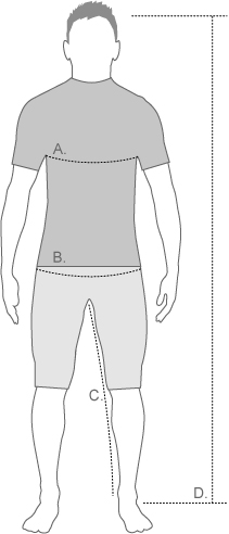 BBB mens measurement diagram