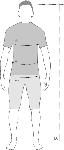 Santini Mens Measurement Diagram
