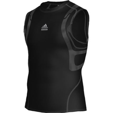 b22b0f54ac3bb View in 360° 360° Play video. 1.  . 1. The Adidas TECHFIT™ PowerWEB™ Sleeveless  Tee ...