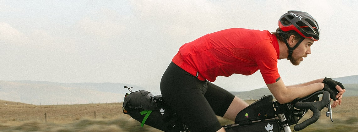 Josh Ibbett a bikepacking expert, is riding in the latest dhb Aeron Ultra cycling kit.