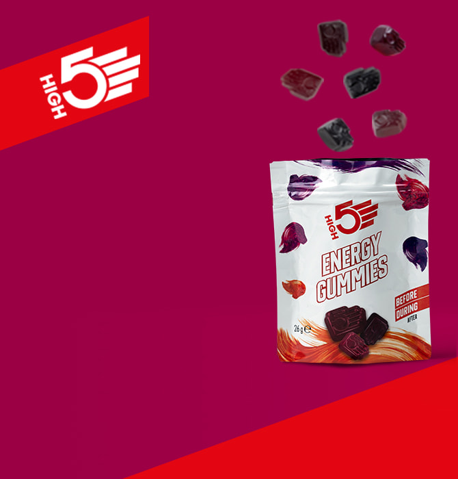 New High 5 energy gummies in red berry flavour