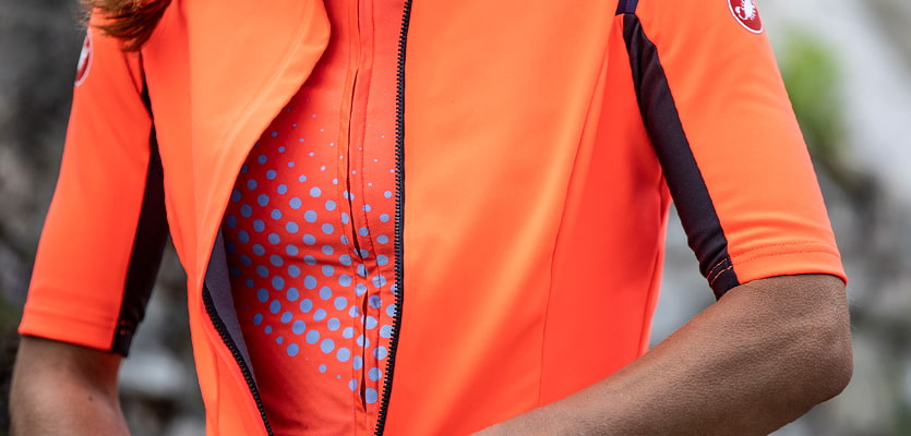 Close up of Castelli Gabba Jersey