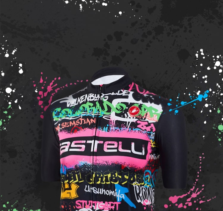 Castelli and Wiggle's special collection graffiti jersey