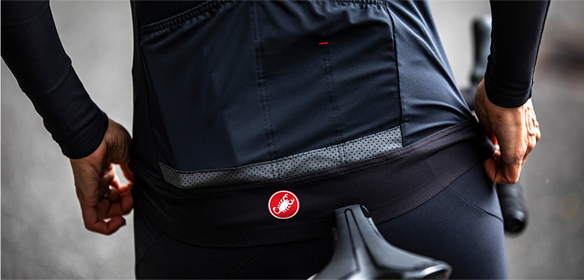 Close up of Castelli Perfetto Jersey
