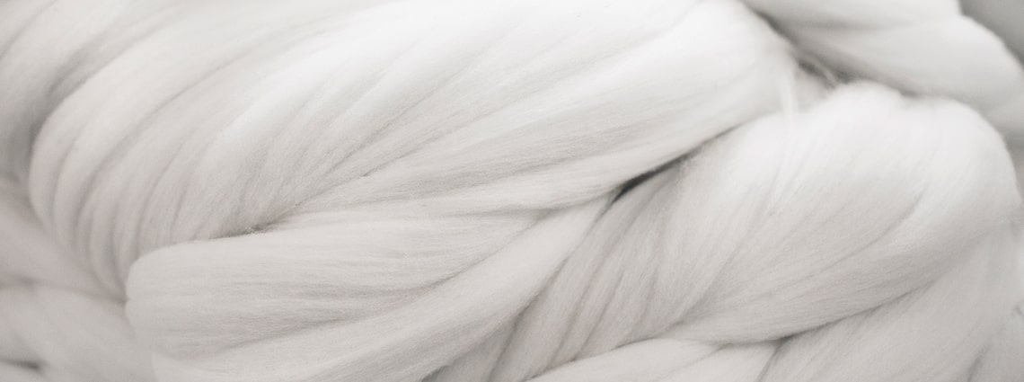 Close up of the natural fibres that Icebreaker clothing contains