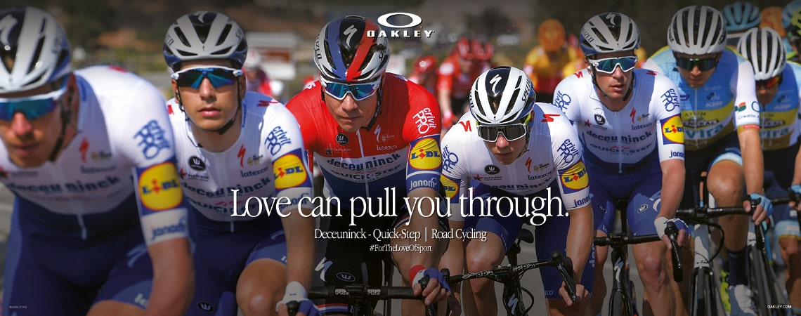 Group of TDF riders wearing Oakley prism sunglasses