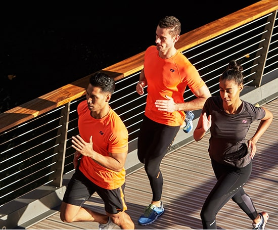 Three people out running in zone3 run and compression apparel