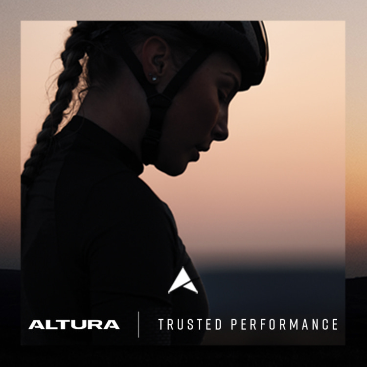 Girl out cycling in Altura cycle gear