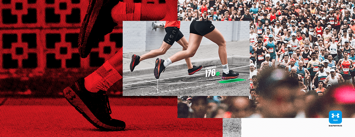 Lady running in the Under Armour Hovr Machina