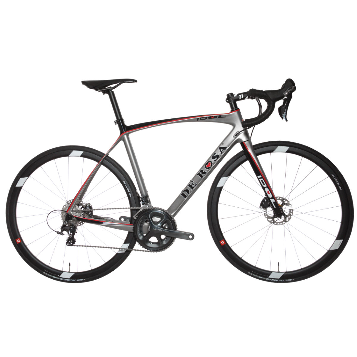 De rosa idol disc ultegra 2017 road bike road bikes silver black red 2017 0