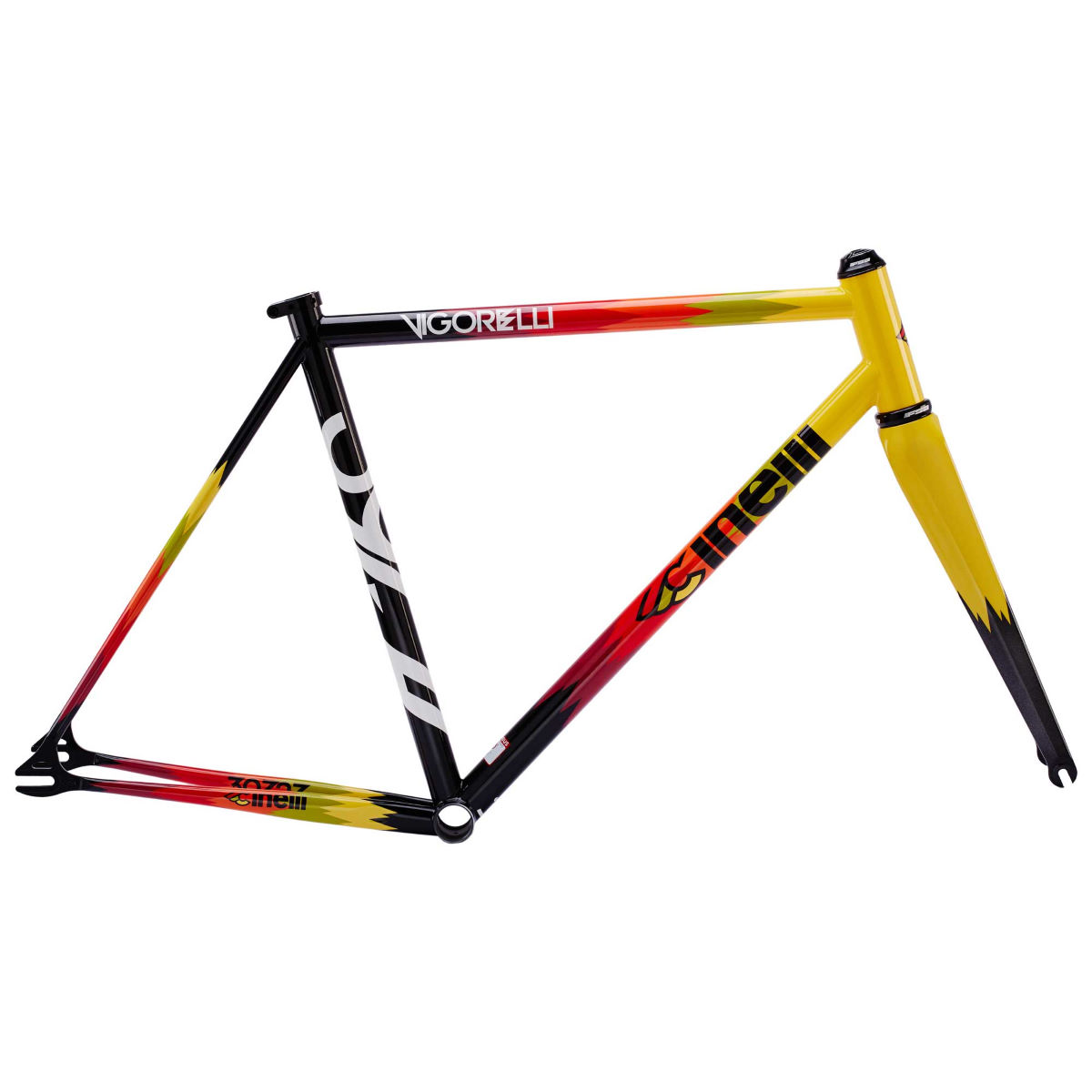 Cinelli vigorelli steel frameset 2017 internal black yellow red 2017 cd113al