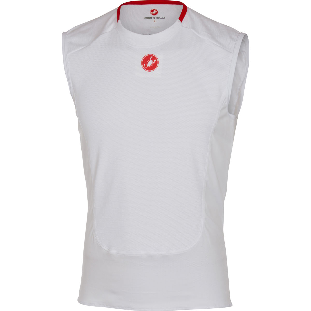 Castelli prosecco sleeveless base layer internal white ss17 cs165300011