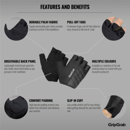 GripGrab Ride Lightweight Padded Short Finger Glove