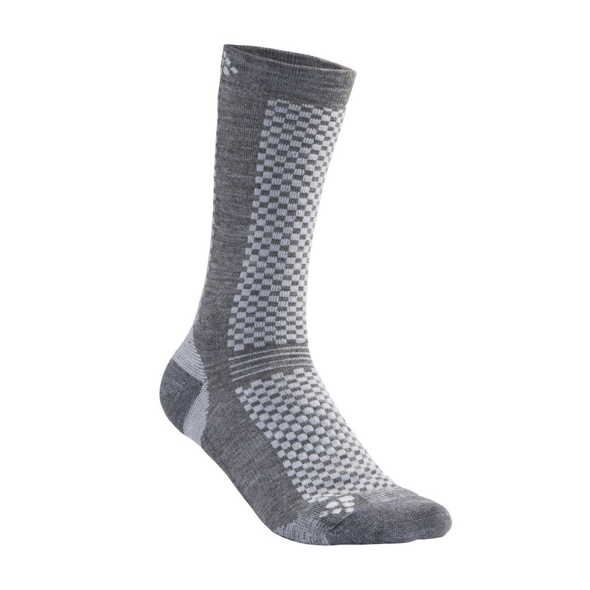 Image of Chaussettes Craft Warm Mid (2 paires) - S Granite/Plat | Chaussettes