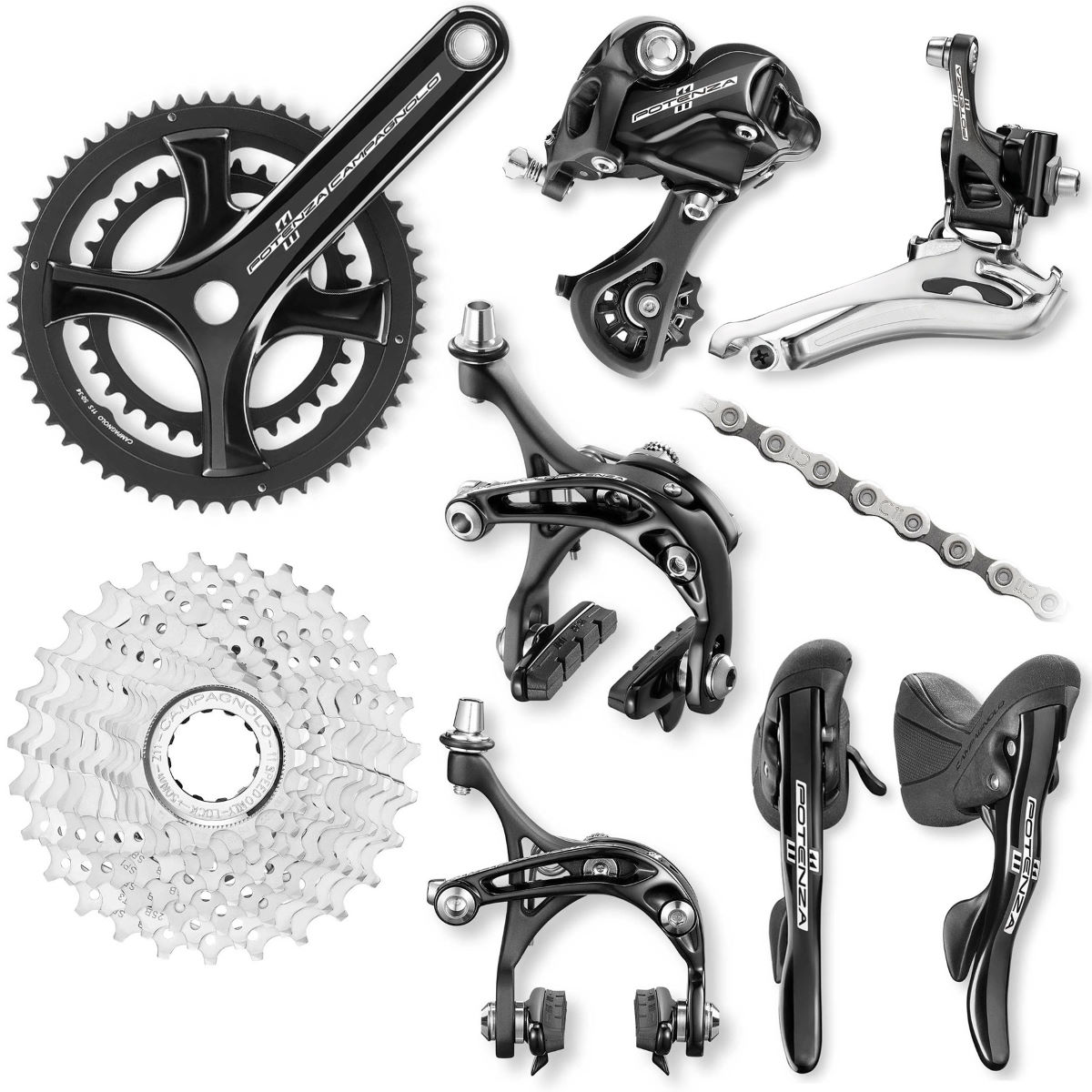 Campagnolo potenza 11 speed groupset groupsets and build kits black 2016 9006011706