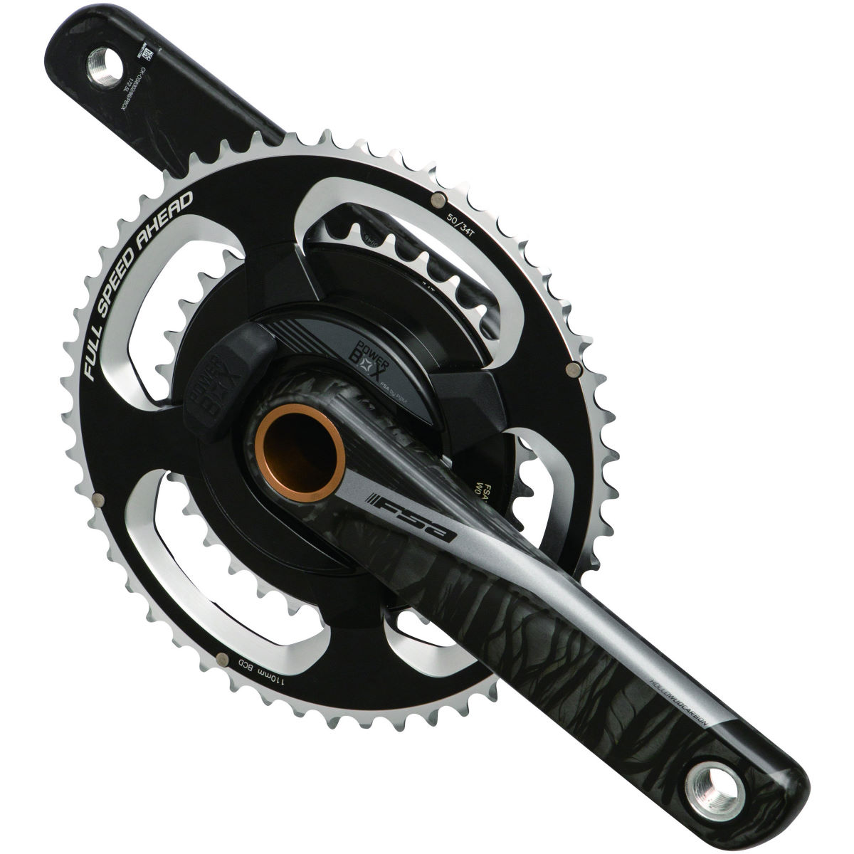 FSA FSA Powerbox Carbon Road ABS Chainset   Power Meter Chainsets