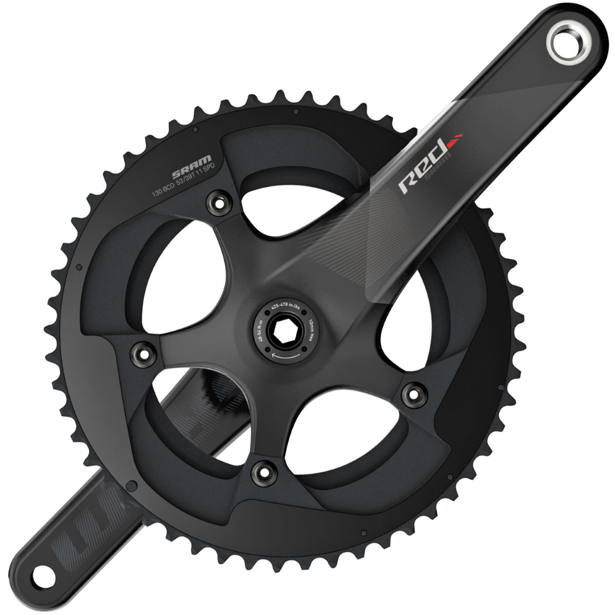 SRAM Exogram Chainset BB30/PF-30 – 165mm 50.34t Black | Chainsets
