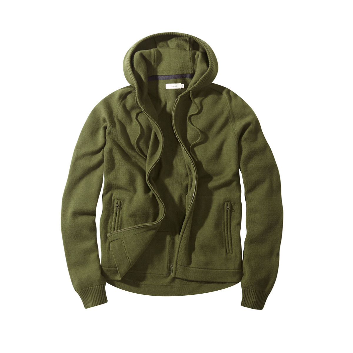 Sweat à capuche howies Colbert Merino - M Vert olive  Polaires