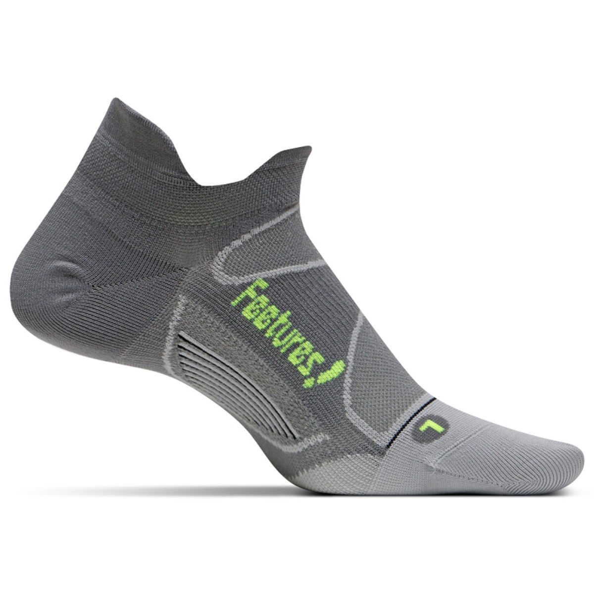 Chaussettes Feetures! Elite Ultra Light No Show Tab - XL Emerald