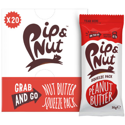 Pip and Nut Peanut Butter Squeeze Pack (20 x 30g)