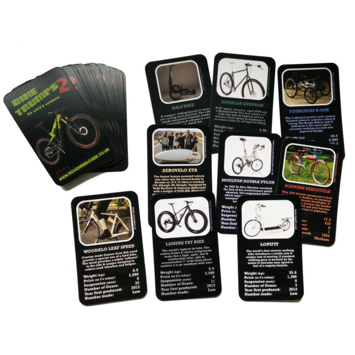 Cordee Bike Trumps 2 - Playing Cards   Gifts