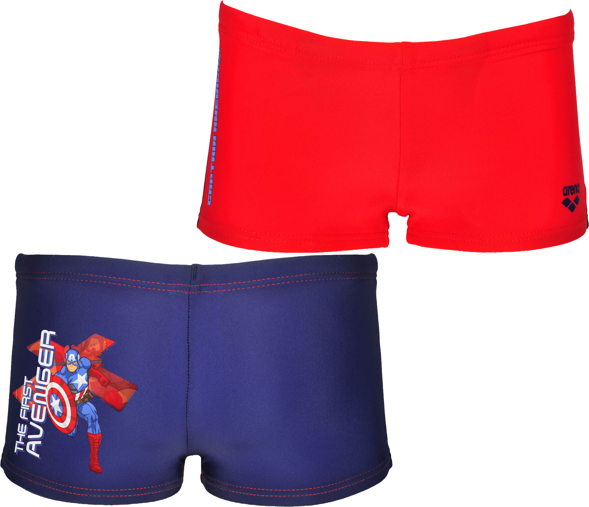 9d685b7705 wiggle.com | Arena - Boy's Captain America Marvel Kids Shorts | Swimming  Shorts