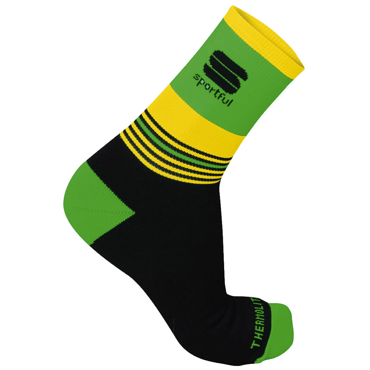 Image of Chaussettes Sportful Arctic 13 - S Black/Green Fluo | Chaussettes