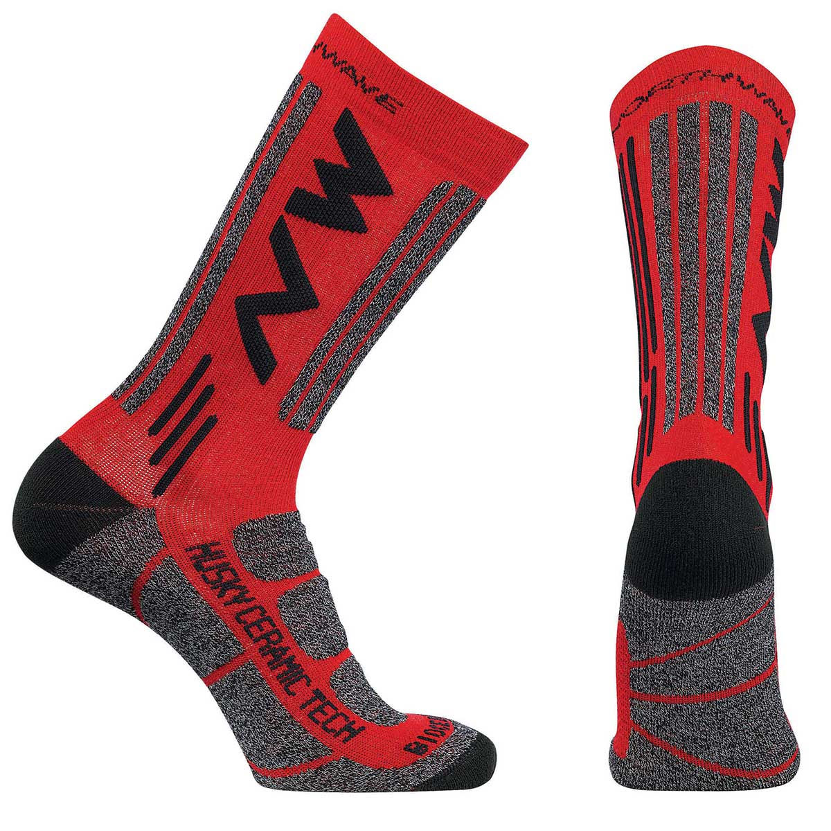 Northwave - Husky Ceramic Tech 2 High Socks - S Rouge  Chaussettes