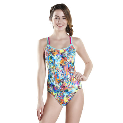 Speedo Glow Ball Double Crossback Swimsuit