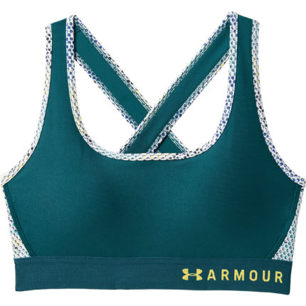 Under Armour Armour Mid Crossback Print Sports Bra