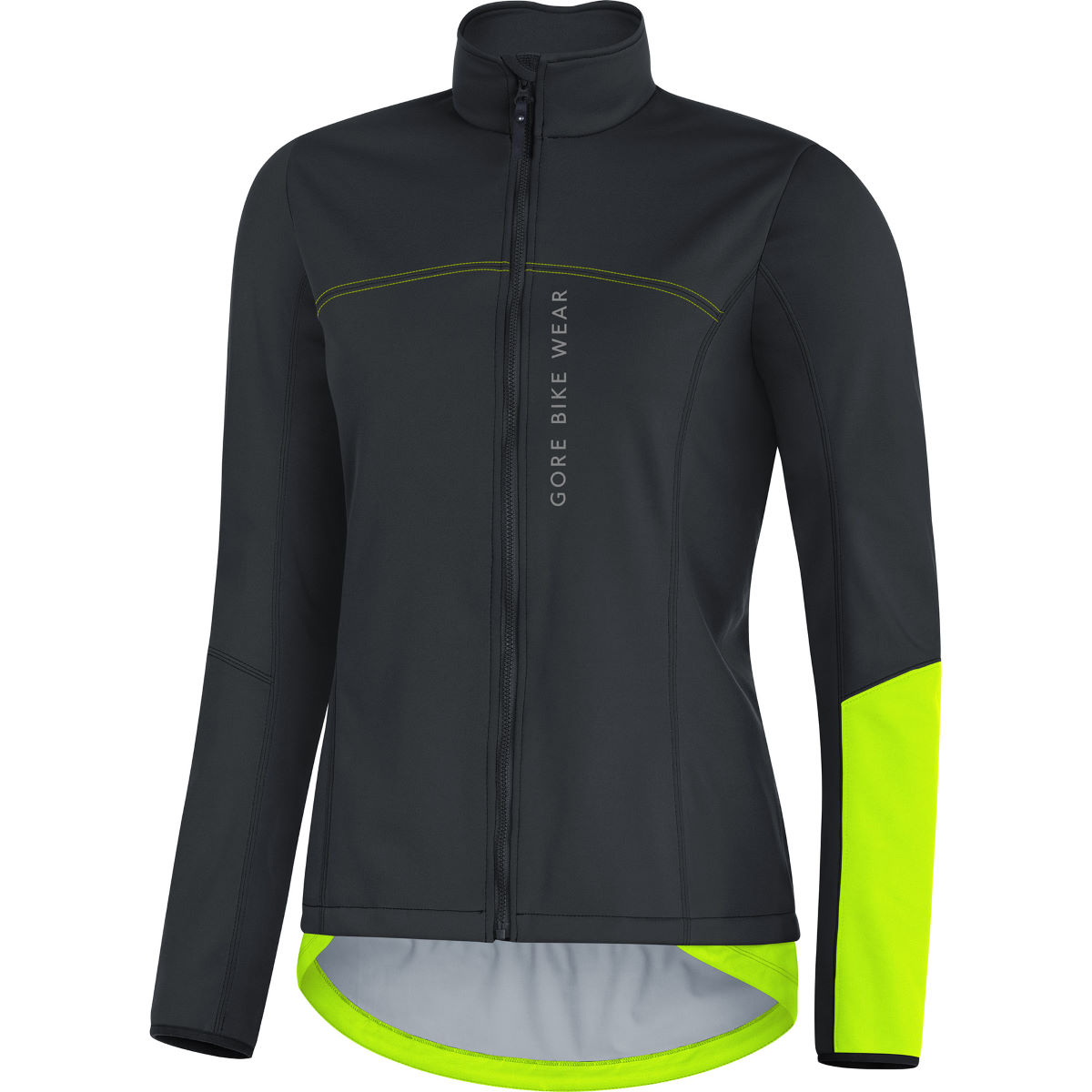 Veste Femme Gore Bike Wear Power GWS SO - X Small Black/Neon Yellow