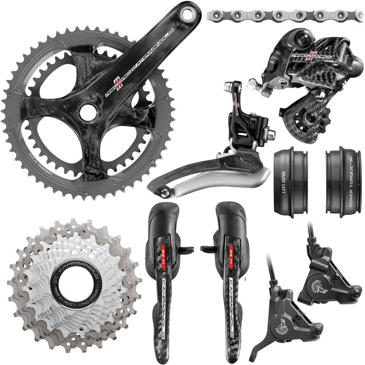 Campagnolo Campagnolo Super Record 11 Speed Hydraulic Disc Groupset   Groupsets
