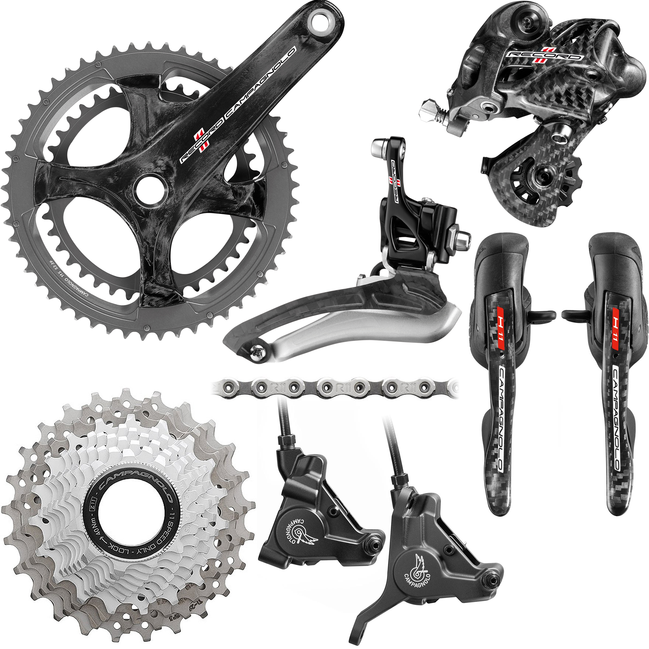 Wiggle España | Campagnolo Record11 Speed Hydraulic Disc Groupset ...